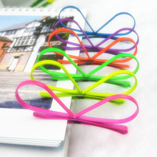6pcs/lot Bunny Rabbit Ears Hair Clips Cartoon for Kids Children Bobby Pins Orange Fushia Green Yellow Purple Royal Blue HJ135(China)