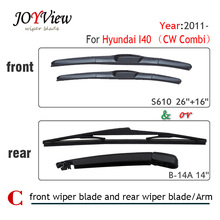 "Buy S610 26""+16"" Front Wiper Blade Rear Wiper Arm Blade Hyundai I40 (CW Combi) (2011 onwards),14"" rear wiper blade for $7.99 in AliExpress store"