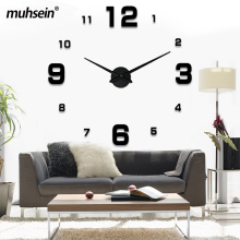 Freeshipping 2017 New Home decoration big mirror wall clock modern design 3D DIY large decorative wall clocks watch unique gift