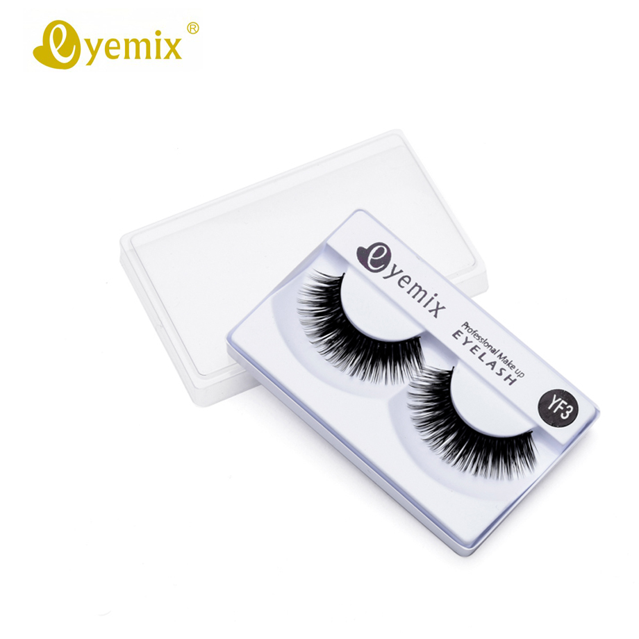 Women's Fashion Eyemix Natural YF3 Eyelash Pestanas Postizas Naturales False Eyelash Professional Eyelash Extension