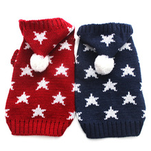 Cat Dog Sweater KNIT Hoodie Sportwear Stars design Pet Puppy Coat Jacket Warm Jumper Clothes 6 sizes(China)