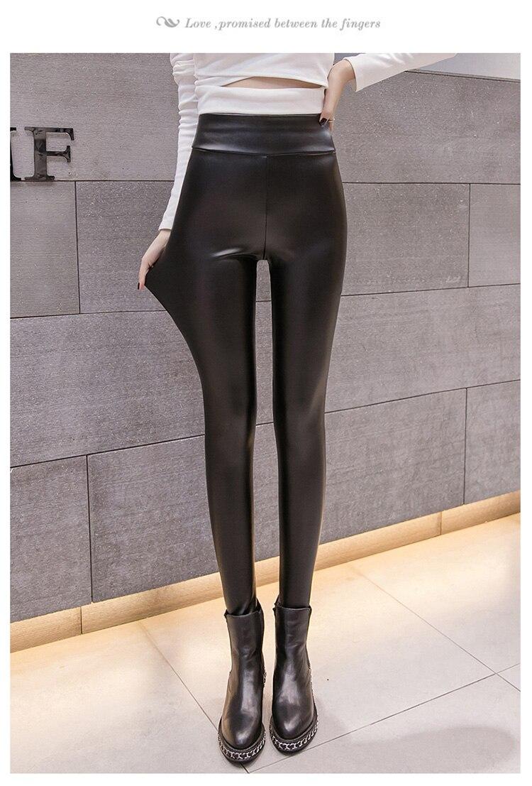 Women Winter Skinny Tight Zip Leggings Stretch Pant Slim Pencil Trouser warm