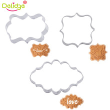 Delidge 1 pcs European Style Picture Frame Cookie Mold Stainless Steel Photo Frame Cookie Molds Frame Mousse Ring Cutter(China)