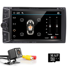 NEW CAR GPS DVD Navigator Bluetooth music Hands-free The car Support the rearview camera function Selling Free shipping