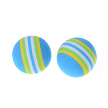 Children's Toys Kids Funny Toy Balls 3.5cm Rainbow Color EVA Material Ball Foam Sponge(China)