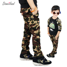 Autumn 2016 domeiland Children's Kids Boy Cargo Sports Military camouflage Pants Long casual cotton Jogging Trousers For Jogger(China)