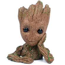 Promotional Price Marvel Movie Flowerpot Groot ABS Model Figure Toy High quality Baby Groot Antistress Tree Man Decoration Gift(China)