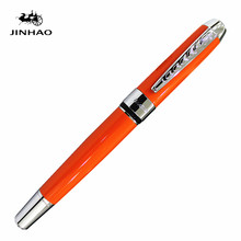 New jinhao 250 orange Metal roller ball pen Ball Point Business  for Writing Custom with Logo Gifts Free shipping
