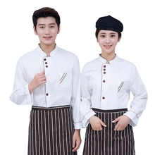White/Black Chef Coat Autumn Winter Long Sleeve Tops Jackets Chef Wear Coats Unisex Restaurant Hotel Uniforms Size M-3XL(China)