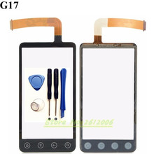 Touchscreen For HTC EVO 3D G17 Touch Screen Digitizer Front Glass Sensor replacement parts + tools