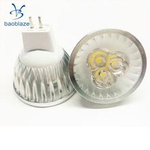 Baoblaze Ultra Bright 12V 3W MR16 Dimmable LED COB Spot Down Light Lamp Bulb Silver(China)