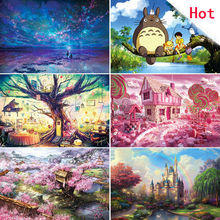 Big Sale! 1000 pieces puzzle cartoon Landscape paper puzzles Without Box for adult DIY attractions jigsaw puzzle toys