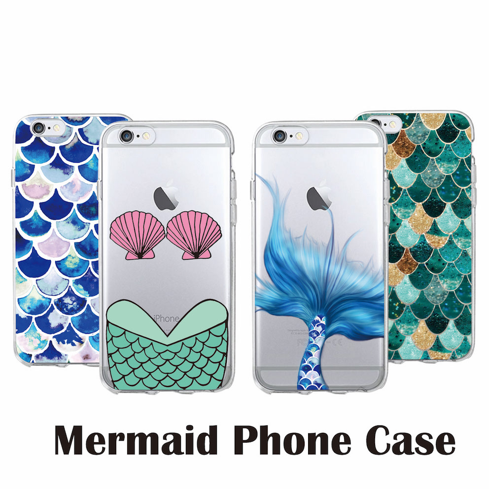 Sexy Bikini Shell Mermaid Tail Soft Clear Phone Case for iPhone & SAMSUNG Phones