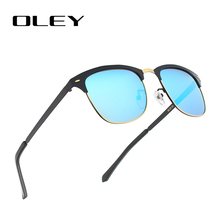 OLEY Classic Circular polarized sunglasses women HD Polaroid lenses fashion glasses Driving outdoor activities anti-UV goggles(China)