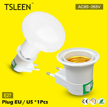 11.11 Big Sale +Cheap+ e27 base wall lamp holder with switch nightlight socket adapter us/ca/eu
