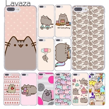 Lavaza cute funny lovely Pusheen Cat Hard Phone Cover Case for Apple iPhone 10 X 8 7 6 6s Plus 5 5S SE 5C 4 4S Coque Shell
