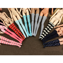 High 10Pair Assorted Fashion Socks Doll Stockings for 1/6 OB MO AZ Monster Dolls Clothes Dress accessories(China)