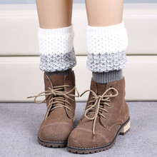 1 Pair Mix color Women Winter Jacquard Trim Knitted Leg Stretch Boot Cuffs Warmers Socks Gaiter Geometric Boot Cover 6 color