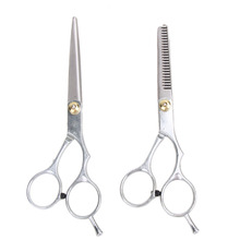 2 PCS 6 Inches Hair Cutting Thinning Scissor Hair Shears Barber Haircut Scissors Salon Hairdressing Scissors Hair Styling Tools(China)