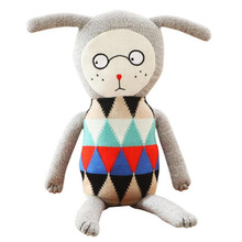 70cm lucky boy sunday High quality Cute Knitting wool appease Plush Toys Baby Sleep Soft Pillow Cotton Dolls(China)