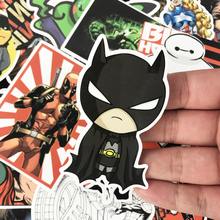 25 pcs Super Hero Iron Man Batman Spiderman Cartoon Safe Toys Cool Stickers For Kids Children Luggage Notebook Laptop Sticker