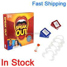 Fast Shipping In Stock HOT 1 Set Speak Out Board Game Best Selling Interesting Funny Toy Party Game Gift For Family Friend Happy(China)