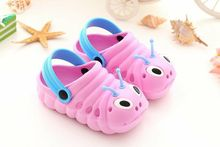 Hot summer shoes 2017 new cartoon cute caterpillar children slippers slip Baotou baby slipper Princess Girl toe Sandals Size 2-1