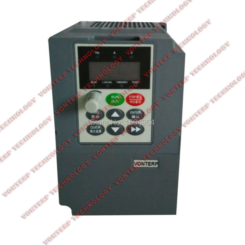 220V  1.5kw 7A Single phase input and 220v 3 phase output  vector Frequency converter/variable speed drive<br><br>Aliexpress
