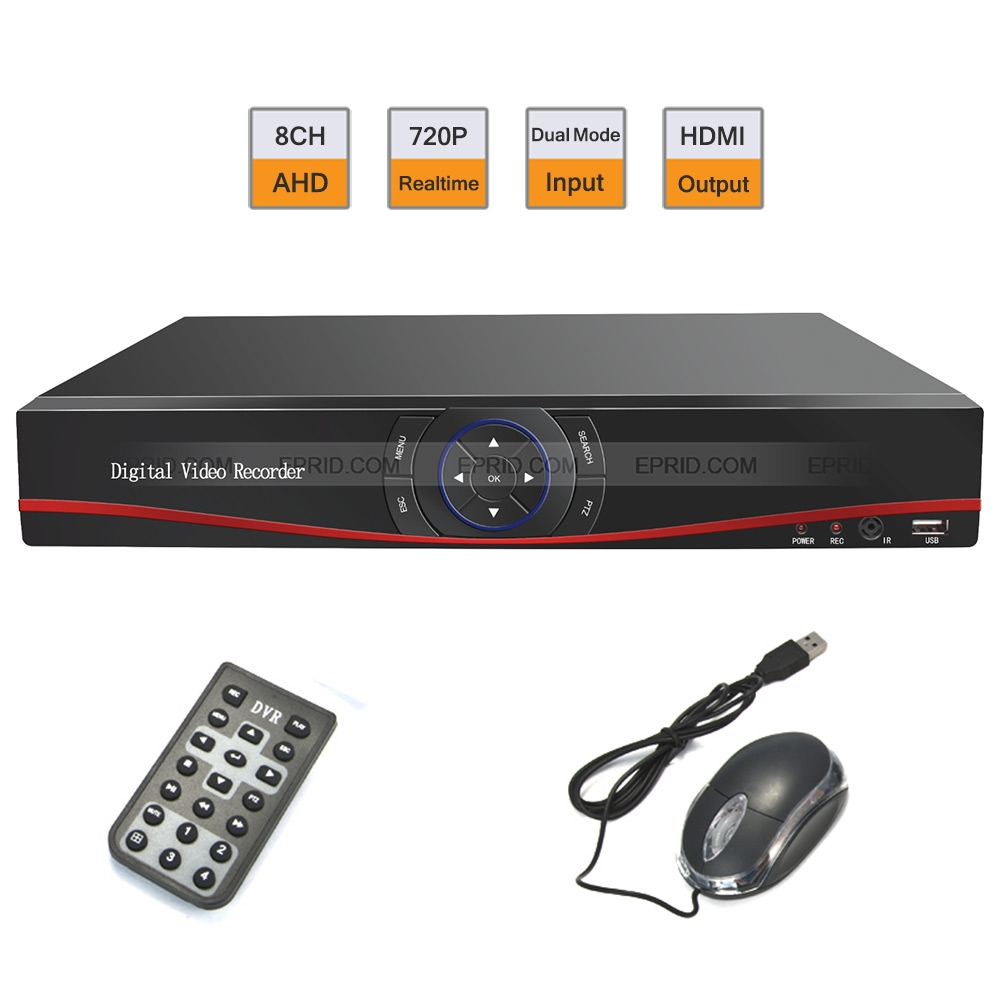 H.264 Security 8CH HD 720P Realtime DVR AHD + Analog Dual Mode<br>