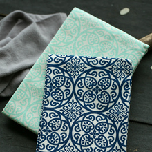 HAKOONA Table Napkins  Placemats Pads  Blue Green Cloth Thicken Printed Cotton  Kitchen Towels Tea Towels 45x65cm