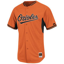 MLB Youth Baltimore Orioles Baseball Youth Orange Batting Practice Cool Base Batting Practice Jersey(China)
