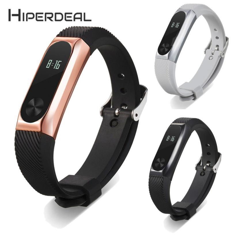 HIPERDEAL New Fashion Metal Wristband Business Style Strap Bracelet Xiaomi Mi Band 2 18Jan02 Drop Ship F