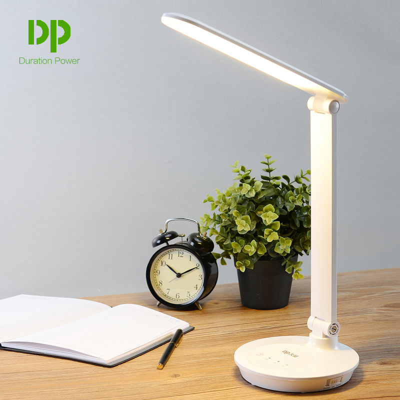 Duration Power Students 5W Table Desk Lamp Foldable Desk Led Lamps With Touch Dimmer Portable Rechargeable Lights 48 LED Lamps<br>