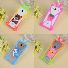 Cute Cartoon Silicone Universal Cell Phone Cases Fundas For Micromax Canvas Pace 2 Q480 5.0 Silicone Phone Cover Capa(China)