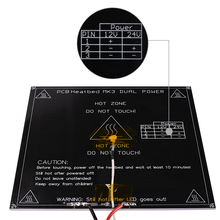 Free shipping black MK3 heatbed latest Aluminum heated bed dual power 3D printer parts RepRap 214*214mm diameter like MK2B(China)
