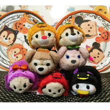 1pcs Tsum Tsum Mini Plush doll Toys Screen Cleaner inside out Mickey Minnie animal bear juguetes key chain accessory kids gift