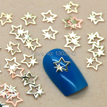 K65  200pcs/lot  DIY Metal Big Star Small Star Jewelry Nail Art Tiny Slice Metal Accessories & Cell Phone Sticker Decoration