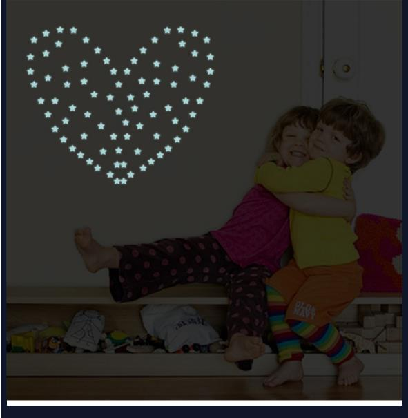 HTB1HgbnisbI8KJjy1zdq6ze1VXaA - % 100 pcs/lot 3D stars glow in the dark Luminous on Wall Stickers for Kids Room living room Wall Decal Home Decoration poster