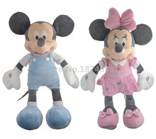 Mickey Minnie Plush Toy 50cm Pink Blue Cute Pelucia Stuffed Animals Soft Baby Kids Toys Dolls Children Gifts(China)