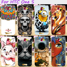 Hard Plastic and Soft TPU Phone Cover For HTC One S Z520E G25 4.3 inch Cases Cool Skull Cute Minions Flower Protective Shell