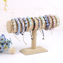 Bracelet display shelf linen bangles organizer hair band holder stand for jewelry rack wholesale price watch frame displays