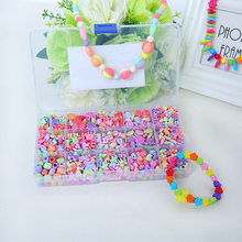 500pcs Colorful Beads Girls DIY Toy Puzzle Toys Jewelry Necklace Making Kit Handmade String Beads Set Educational Toys For Kids