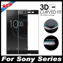 3D Curved Edge Full Cover Screen Protector Film For Sony Xperia XZ XZS X Compact Performance XA XA1 Ultra Premium Tempered Glass