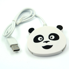 new gift kung fu panda shaped High Speed 4 Port USB 2.0 Hub Splitter adapter for Laptop computer Supports 1TB mobile hard disk(China)