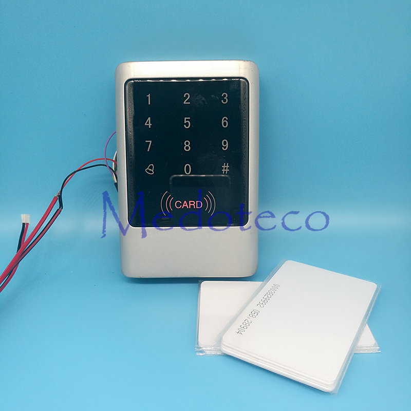 IP68 Waterproof Metal Rfid Access Controller 125Khz EM Card Access Control Outdoor Touch keypad Access Control System<br>