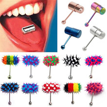 LNRRABC Women Men Rock Personality Vibrating Tongue Ring Body Piercing Jewelry With 2 Batteries plugs and tunnels body jewelry(China)