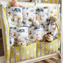Baby Cot Bed Hanging Storage Bag ,Crib Organizer Toy Diaper Pocket for Crib Bedding Set 54*59CM(China)