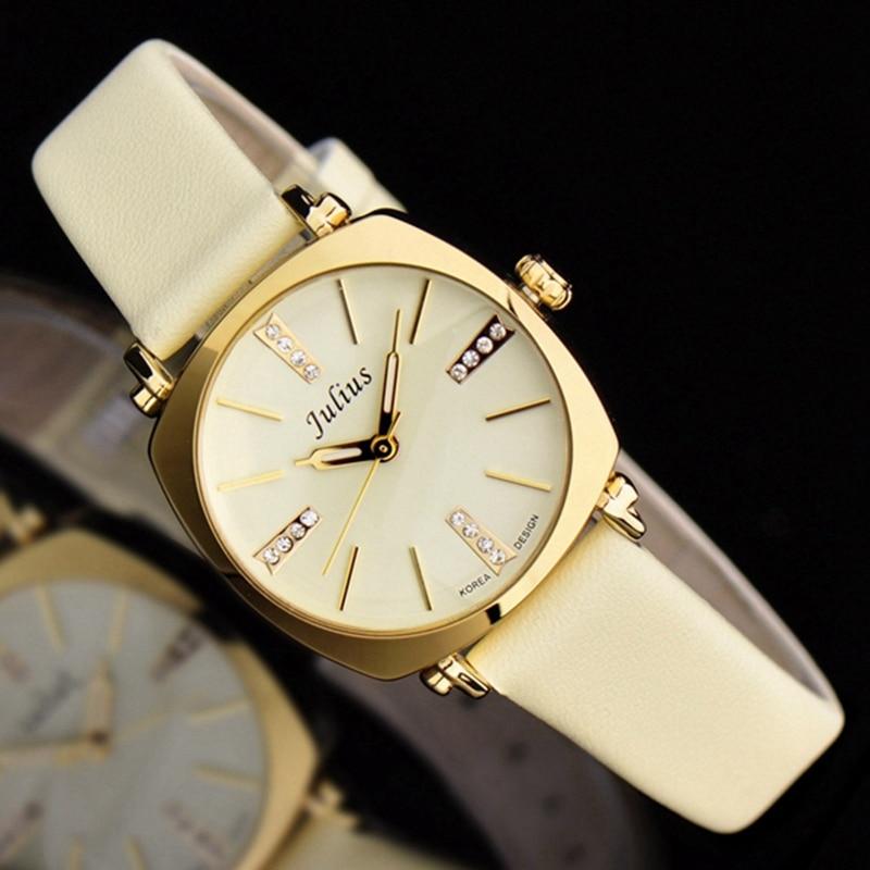 Hot Women dress luxury stone bling rhinestone wrist watch New Girl fashion casual quartz original leather watch Julius 388 clock<br><br>Aliexpress