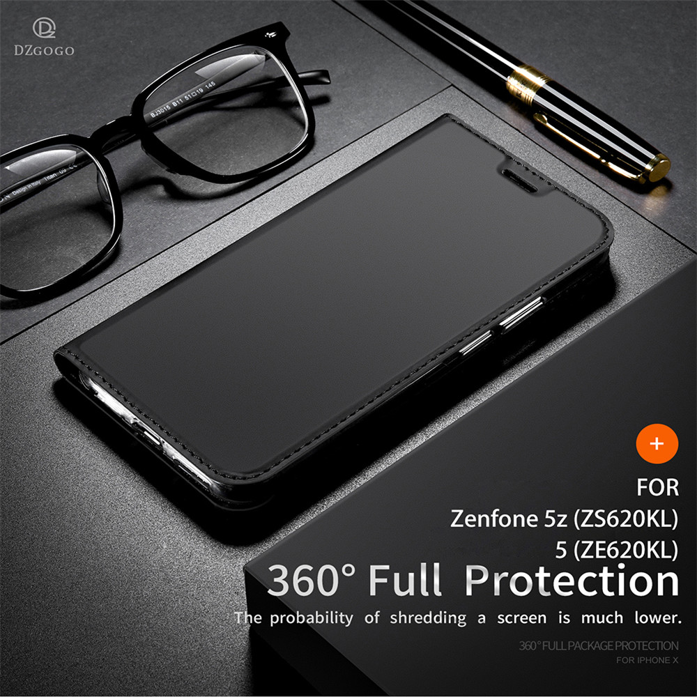 Leather Case For Asus Zenfone 5z ZS620KL Luxury Thin Flip Stand Wallet Cover For Asus Zenfone 5 ZE620KL Case1