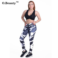 O.Beauty Women Leggings Workout Leggings For Joggers Adventure Time Fitness Camouflage Leopard Pants Gothic Leggings for Women